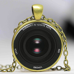 Wholesale Vintage Camera Lens Necklace art photo pendant Fairytale girl chain Jewelry women men gift antique charm