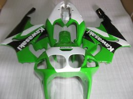 Wholesale NEW ABS Fairing kits bodywork set For Kawasaki Ninja ZX7R ZX R ZX R black white green