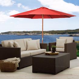 Wholesale Outdoor Ft Umbrella Sun Shade Wood Pole Beach Cafe Patio Garden Red Goplus
