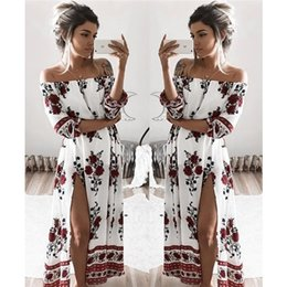 Wholesale 2017 early spring selling eBay Amazon wish burst in the sleeve of a loose digital print word shoulder dress