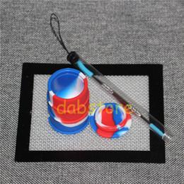 Ensembles de batterie à vendre-Vente en gros kit de cire de silicone avec tapis carrés tapis mat pour les jarres à l'herbe sèche tambour tambour dabre 26 ml outil de tampon d'huile de silicium