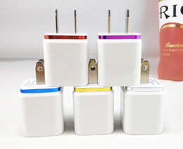 Wholesale High Quality US Plug V A Dual USB AC USB Charger Wall Power Adapter for iPhone for Huawei for Smartphone for Cell Phones Travel Dual U