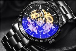 Mujer del estilo de reloj resistente al agua en venta-Los relojes mecánicos automáticos a estrenar calientes de la venta de los relojes de lujo de las mujeres de los hombres de la manera de la cara del acero inoxidable miran el estilo hueco simple impermeable [Q060]