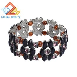 Wholesale New Design High Quality Alloy accessories Jewelry Horse Eye Acrylic Imperial Beads Stretch Energy Gift Bracelets