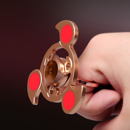 Ring Stent Tri Spinner EDC Toys Metal Hand Spinner Metal 2 in 1 Fidget Spinner for Autism and ADHD Hand Spinners