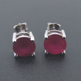 Fashion jewelry Stud Earring Red Blue Toapaz & Mistic stone Gift 100% 925 Silver DR0300753E Free Shipping