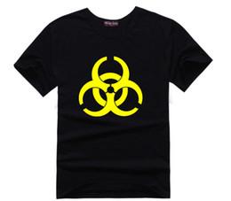 Wholesale Resident Evil Logo T Shirt Cotton Men Women T Shirt TBBT The Big Bang Theory Sheldon Cooper Geek Tee Medical Waste Science Tshirt Plus Size