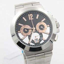 Al por mayor - Luxury Brand Men diagono pro calibro 303 reloj de cuarzo cronómetro acero inoxidable oro rosa moda hombre reloj