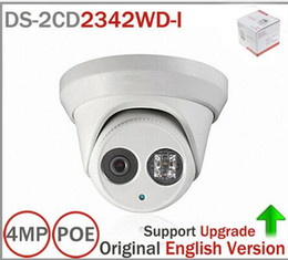 Wholesale Newest Original English Version DS CD2342WD I MP WDR EXIR Turret Network Camera MINI Dome IP Camera CCTV Camera mm Lens