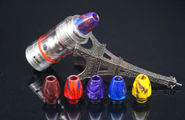 Wholesale 2016 new e cig drip tip resin bullet shape mouthpiece for tfv8 baby tank rda