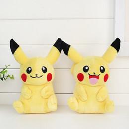 Wholesale Pikachu Plush dolls cm inch New Poke plush toys cartoon poke Stuffed animals toys soft Christmas toys best Gifts