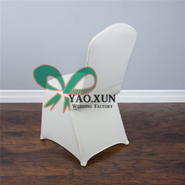 50pcs Ivory Color Lycra Spandex Chair Cover For Wedding Hotel Decoration