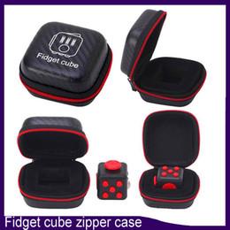 Wholesale Portable Fidget Cube case Toys Zipper Case High Quality zipper case With black colors