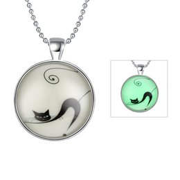 Wholesale Noctilucous Seris Cute Animals Cat Puppy Deer Silver Plated Pendant Charms Necklace Link Chains Unisex Fashion Jewelry Best Gift