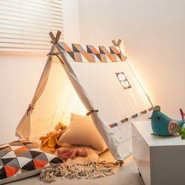 Compra Online Cabrito casa tienda de campaña-2017 nuevos regalos de Navidad al por mayor de madera de lona de algodón de madera de interiores los niños de interior juegan casa tienda de campaña