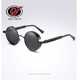 Wholesale Новый Мода круглый поляризовать солнцезащитные очки для мужчин и женщин Vintage металлических солнцезащитных очков бренд дизайнер Солнцезащитные очки горячей продажи от Китай Оптовая