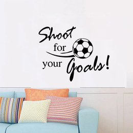 Hot Sale Removeable Wall Art Sticker Decal Room Kid Mural Good Letter Soccer Football Diy