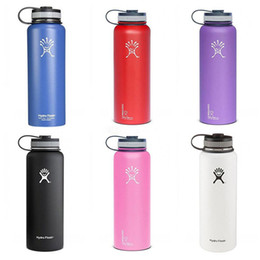 Wholesale Hydro Flask Vacuum water bottle oz oz oz Insulated Stainless Steel Water Bottle Wide Mouth big capacity travel water bottles