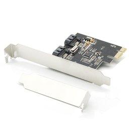 Wholesale PCI E Express SATA2 SATA2 Gb s Port SATA II Expansion Card JMB362 Chipset Low Profile Bracket