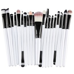 Mybasy 20 Pcs High end Makeup Brushes Set Powder Foundation Eyeshadow Eyeliner Lip Cosmetic Clearance Brush (white+Black)