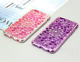 Wholesale For iphone 7 7 Plus Bling Diamond Crystal Sun Flower Plating TPU Soft Case For iPhone 5 6S 6 Plus Phone Shell