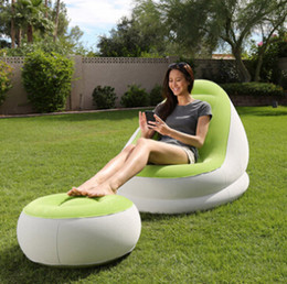 Outdoor Inflatable Air Sleeping Bag Portable Sofa Hangout Lounger Air Boat Air Lazy Sofa Inflate Camping Beach Sleeping Bed Hammock B1228