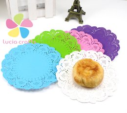 Wholesale cm Multi colour Paper Doilies Coasters Placemat Table Decoration Baking Mat For Cake Cookie