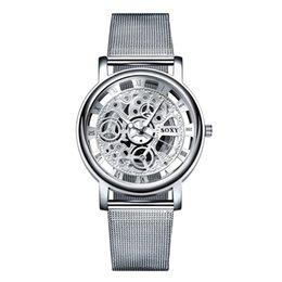 relojes mujer 2016 Brand SOXY Silver Wrist Watch Simple Style Mesh belt women men quartz watches fashion designer ladies watch