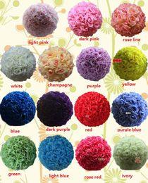 Wholesale Inch Wedding silk Pomander Kissing Ball flower ball decorate flower artificial flower for wedding garden market decorati