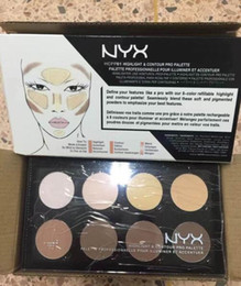 Wholesale NYX Highlight Contour Pro Pattle Review Face Pressed Powder Foundation Grooming Shadow Powder Palette Makeup Cosmetic Colors FREE SHIP