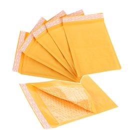 Descuento burbuja de papel kraft Venta al por mayor-150 * 180 mm Kraft papel burbuja sobres envases Mailers envoltura envasado con burbujas Mailing Bag Negocios suministros