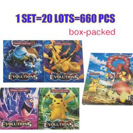 Juegos para niños en Línea-660pcs / set Poke ir de juego de tarjetas de comercio Inglés Anime Cartoon poke tarjetas para los niños Niños Partido Junta de juegos de tarjeta de juego