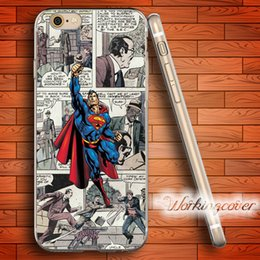 Capa Comic Superman Soft Clear TPU Case for iPhone 7 6 6S Plus 5S SE 5 5C 4S 4 Case Silicone Cover.