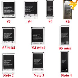 Wholesale Battery For samsung s3 s4 i9500 s5 s6 battery AKKU For samusng s3 mini s4 mini s5 mini bateria For Samsung Note Note Note battery Akku