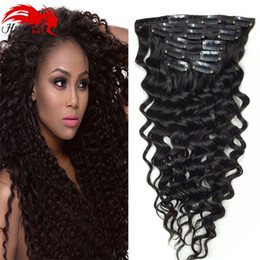 Hannah product Curly Clip In Hair Extensions Natural Hair African American Clip In Human Hair Extensions 120g 7Pcs set Clip Ins