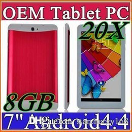 Puces de tablette double cœur à vendre-20X DHL 7 pouces 3G Appel téléphonique Tablet PC Android 4.4 MTK6572 512 Mo 8 Go Dual Core 1.2GHZ Caméra double GSM / WCDMA GPS Blutooth B-7PB