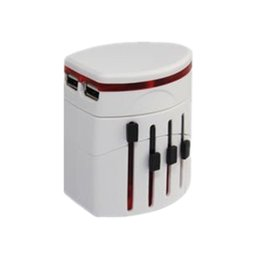 Wholesale Universal World TRAVEL ADAPTER WALL CHARGER with Dual A USB Port Charger Covers Countries Worldwide Travel Adapter Converter