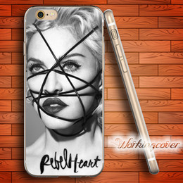 Capa Rebel Heart Madonna Soft Clear TPU Case for iPhone 7 6 6S Plus 5S SE 5 5C 4S 4 Case Silicone Cover.