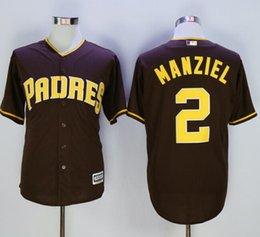 Promotion johnny maillots manziel San Diego Padres Jerseys 2 Johnny Manziel Maillot Flexbase Cool Base Chemises Johnny Manziel Maillots de Baseball Maillot Gris Gris Blanc
