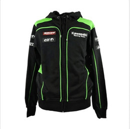 Wholesale Kawasaki Men s Clothing Cotton Hoodies Jackets Racing MotoGP Valentino Motorcycle motocross casual sweater coat
