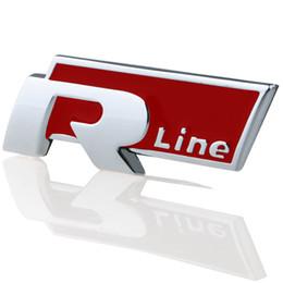 R Rline Golf R Line 3d sticker Car Stickers Auto Parts Modified For VW Golf 6 Jetta MK6 POLO passat B6 B7 CC