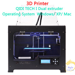 Nouveau QIDI TECH I Imprimante double extrudeuse 3D avec carte mère 7,8 version améliorée W / 2 filaments ABS et PLA à partir de double filament fabricateur