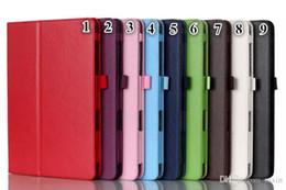 Air en cuir libre à vendre-Nouvelle arrivée Nouveau pour la couverture élégante de support de cuir de PU de mini cas de protection d'iPad pour l'iPad Mini1 mini 2 3 Livraison gratuite 10 couleurs
