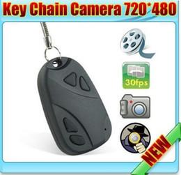 Las mini cámaras digitales en venta-MINI cámara de la llave del coche del espía ocultada 808 KeyChain Digitaces Cadena DV DVR de la videocámara Videocámara video de la cámara Envío libre