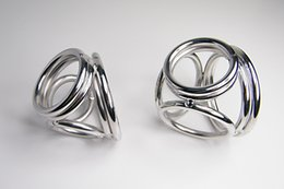 New Design Stainless Steel Penis Cage 4 Rings Cock Ring Male Phallic Penis Enlargement Enhancer Sex Delay Ring Adult Sex Products