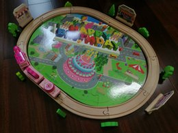 Wholesale Best Birthday Gift Brain Game Colourful Wooden Music Track Train Set