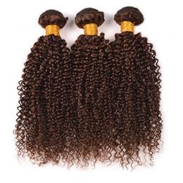 Wholesale 8A Cheveux bruns bouclés bruns de la Vierge paquets Cheveux bouclés bruns bouclés tisse Chestnut Brown Hair Extensions