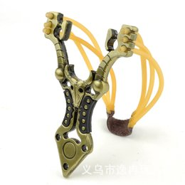 Tribal totem slingshot alloy slingshot shooting outdoor hunting and fishing Hunting Slingshots 6 strands of rubber free shipping