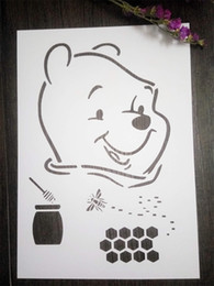 DIY white stencils children pattern design Masking template For Scrapbooking,cardmaking,painting,DIY cards-The cartoon Winnie the pooh 141