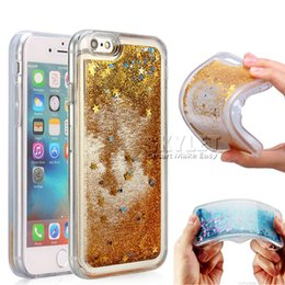 Wholesale For Iphone Plus Liquid Case Soft TPU Shiny Dynamic Quicksand Case For Iphone Zmax Z981 Samsung S7 Edge with OPP Package